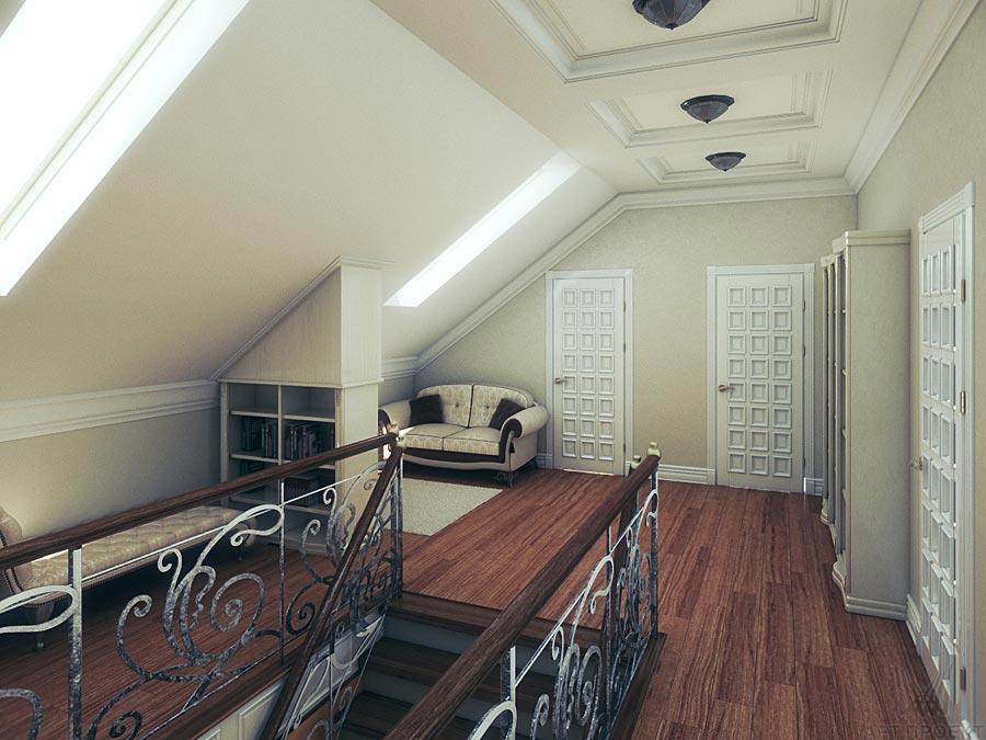 Сказочная ванная комната на мансардном этаже фото 80