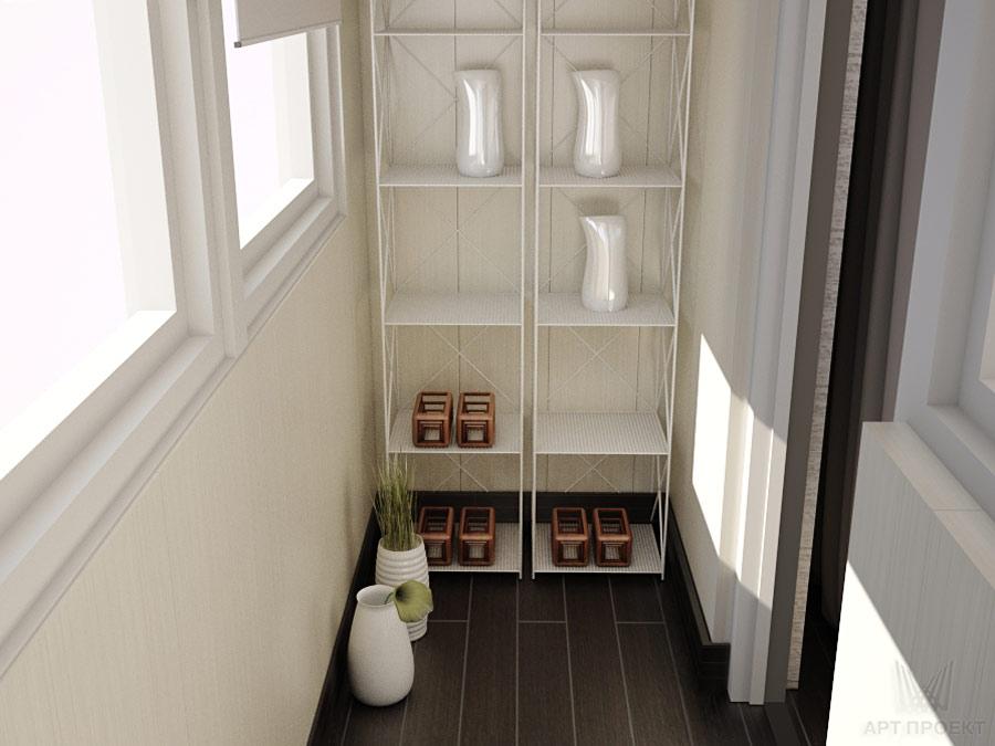 Дизайн интерьера двухкомнатной квартиры 46,6 кв.м для неболь.