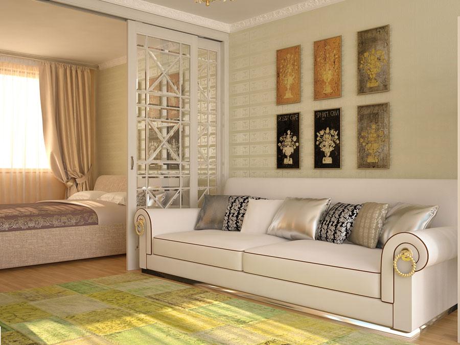 работы Сиделка дизайн гостиной спальни 20 кв м сна