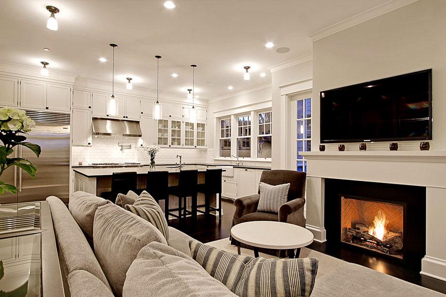 Дизайн квартиры с камином