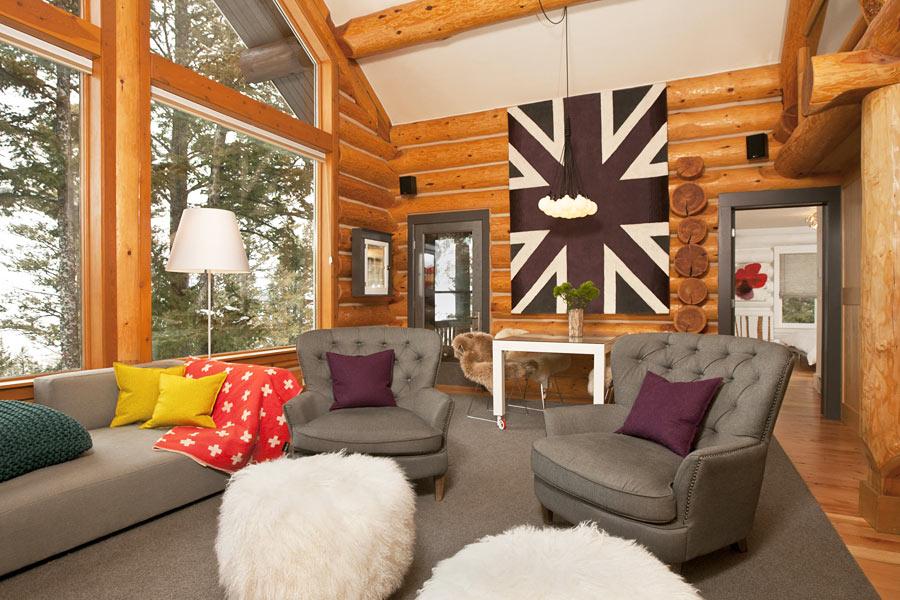 Проект дизайна интерьера деревянного дома 138