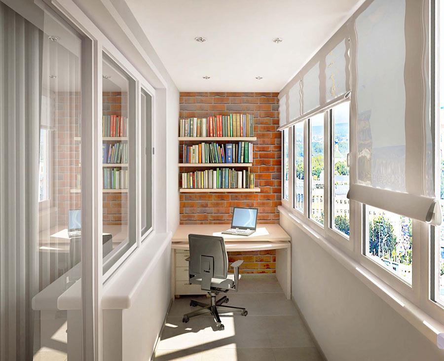 Дизайн интерьера балкона лоджии