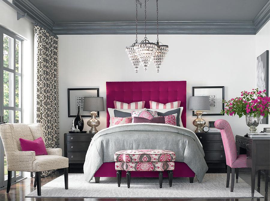 спальня цвета фуксии