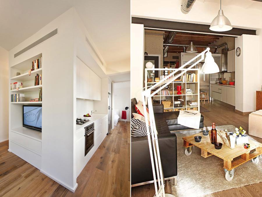 Дизайн интерьера малогабаритных квартир: шкафы и стеллажи