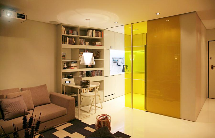 Дизайн интерьера малогабаритных квартир: гостиная и кухня