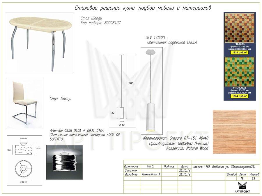 Дизайн-проект интерьера двухкомнатной квартиры 60 кв.м - кухня