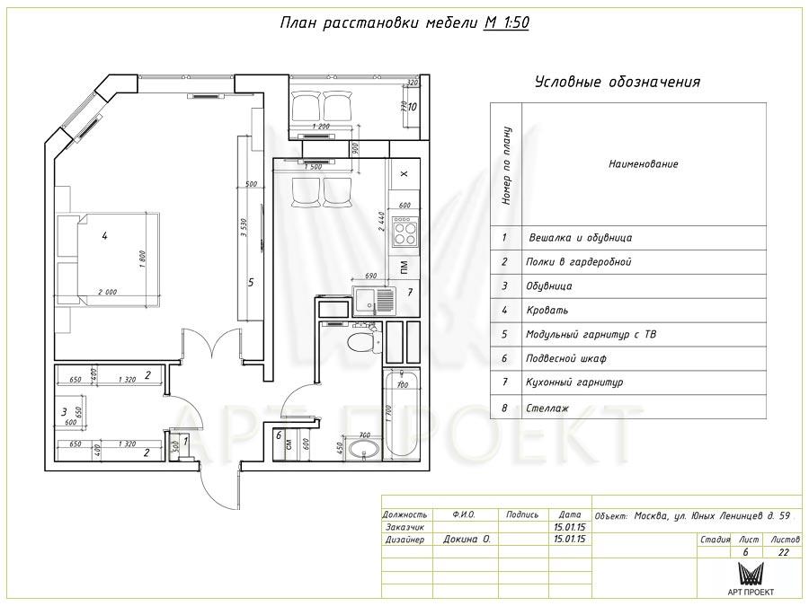 Дизайн мебели чертеж