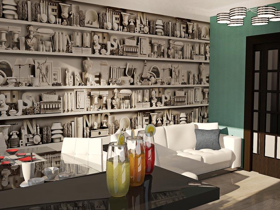 Дизайн-проект трехкомнатной квартиры 78,5 кв.м