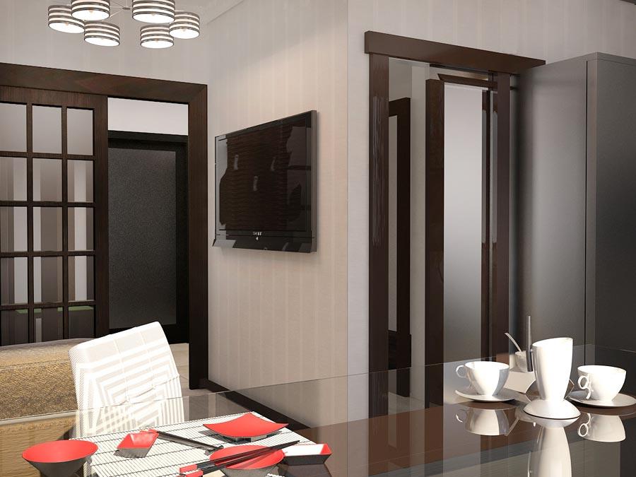 Дизайн интерьера трехкомнатной квартиры 78,5 кв.м - межкомнатные двери