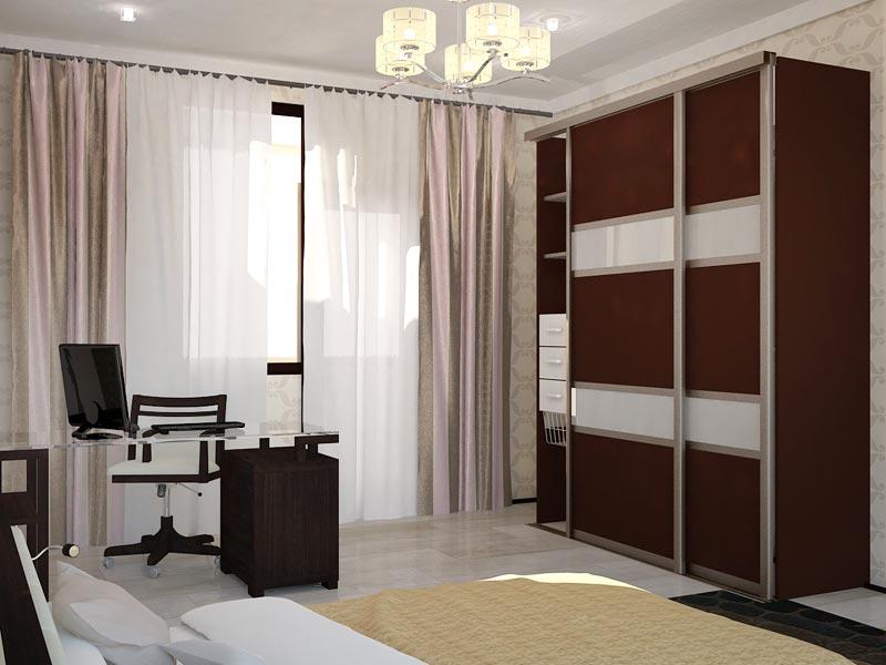 Дизайн-проект интерьера трехкомнатной квартиры 78,5 кв.м: гардероб в спальне