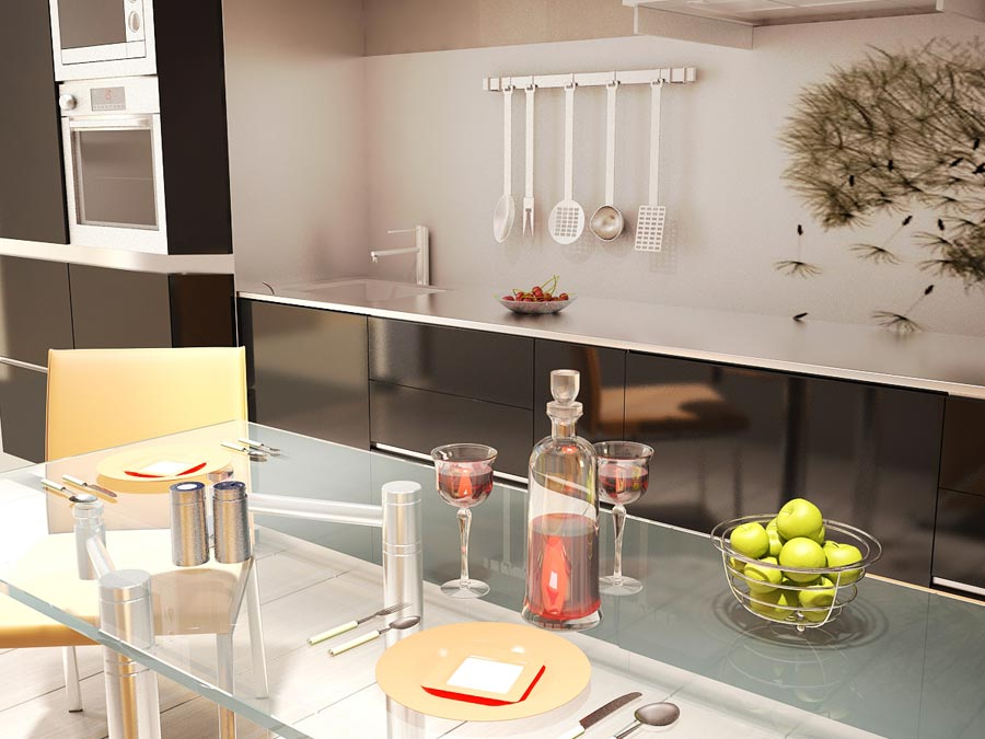 Кухня 12 м с диваном в  Москве