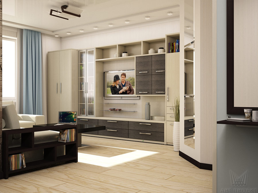 Дизайн проект гостиной в доме