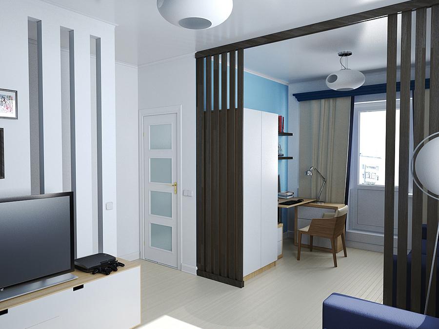Дизайн однокомнатной квартиры 33 кв м.фото